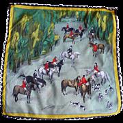 Horses Hunt Handkerchief