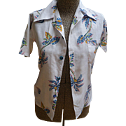 Palm Tree Cotton Shirt