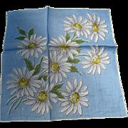 Daisy Linen Handkerchief