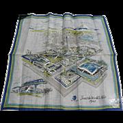 Burmel 1962 Seattle Worlds Fair Handkerchief