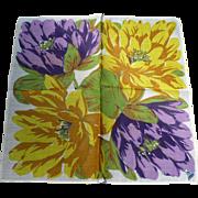 Large Flowers Handkerchief