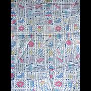 1950's Alphabet Fabric