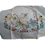 German Embroidered Motto