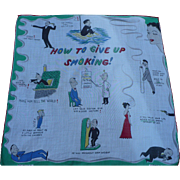 Give Up Smoking Handkerchief