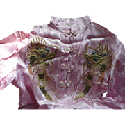 Pink Chinese Pajamas Embroidered