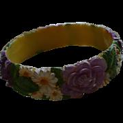 Celluloid Floral Bracelet