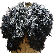 Black Feather Shrug Cape