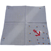 Applique Anchor Handkerchief