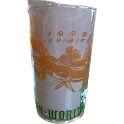 1939 Worlds Fair Food Exhibit Glass
