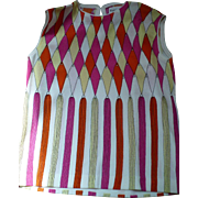 1960's Sleeveless Print Top