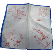 Nursery Rhyme Silk Handkerchief