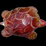 Bakelite Turtle Compact Pin