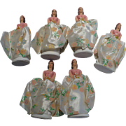 Six Chalkware Bridesmaids 1957