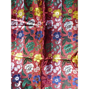 Chinese Brocade Floral Fabric - Red Tag Sale Item