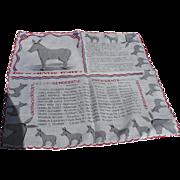 Democrat 1950's Handkerchief