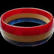 Patriotic Bakelite Bracelet