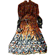 70's Print Dress