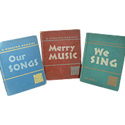 1940's-50's School Music Books for Children
