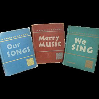 1940's-50's School Music Books for Children