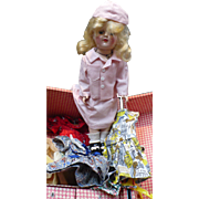 Toni Ideal P-91 Doll Clothes & Trunk