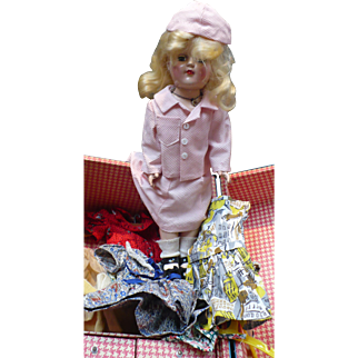 Toni Ideal P-91 Doll Clothes & Trunk