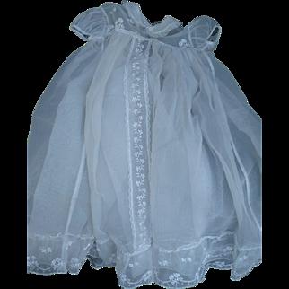 Organdy Christening Gown & Slip