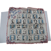 1950's Presidents Handkerchief