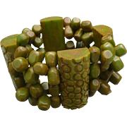 Bakelite Stretch Beaded Bracelet