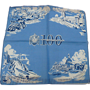 Chicago Marshall Fields 100 Anniversary Handkerchief 1952