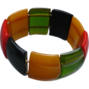 Bakelite Multicolor Stretch Bracelet