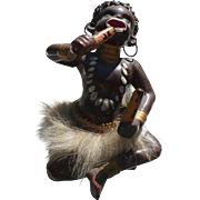 Black Native Girl Figurine