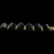 Bakelite Black Segment Bracelet