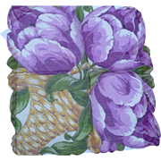 Tulip Flower Basket Handkerchief