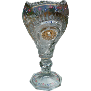 Pressed Glass Chalice or Vase