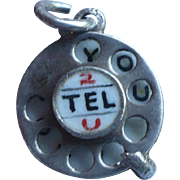 Telephone I Love You Charm