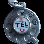 Telephone I Love You Charm
