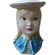 Chalkware Girl Head Vase