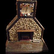 Folk Art Fireplace Clock
