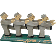 Wooden Carved Men Folk Art