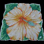 Large Hibiscus Handkerchief