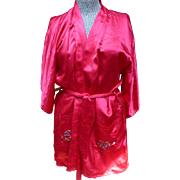 Red Satin Chinese Embroidery Jacket
