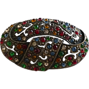 Rhinestone Czech Pin