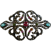 Rhinestone Marcasite Czech Pin