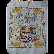 Embroidered Baking Sampler