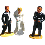 Barclay Bride Groom Preacher Cake Toppers