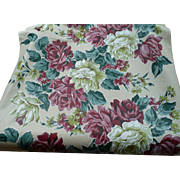 Vinylized Fabric Floral Yardage
