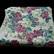 Vinylized Fabric Floral Yardage