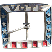 VOTE Belt Buckle