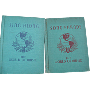 1941 School Music Books
