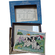 Hiawatha Needlework Dog Picture
